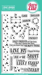 *Avery Elle Clear Stamps WRITTEN IN THE STARS Set ST-13-29