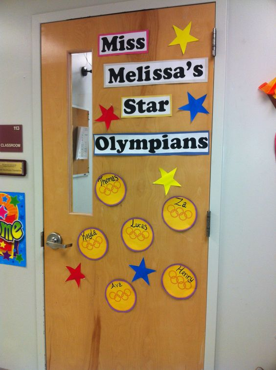 Classroom Decorating Ideas Olympic Theme : Olympics theme classroom doors and bulletin boards