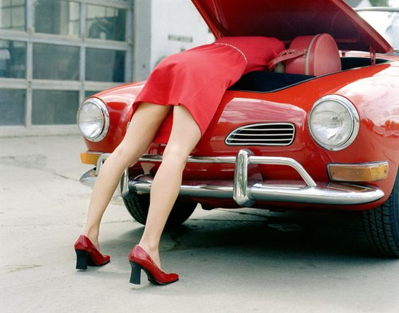 Red Karmann Guia | You Drive | Faro Car Hire | Algarve | Portugal | www.you-drive.cc