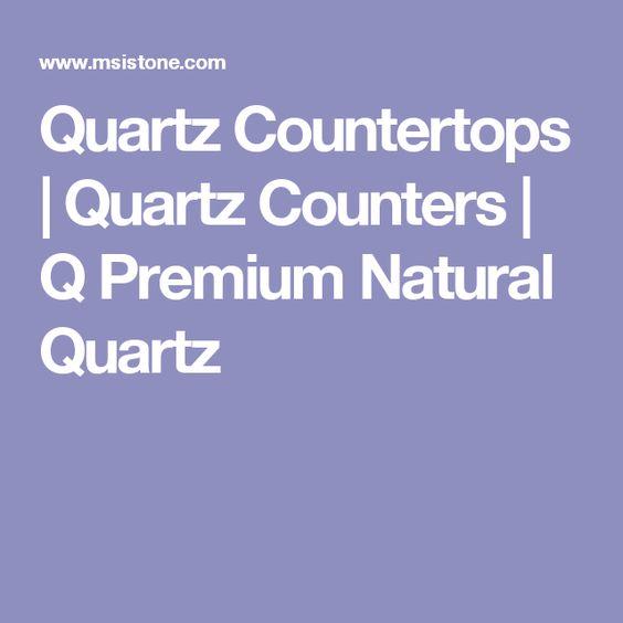 Quartz Countertops | Quartz Counters | Q Premium Natural Quartz
