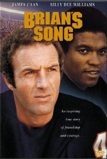 Brian's Song (1971), Screen Gems Television, James Caan (Brian Piccolo) and Billy Dee Williams (Gale Sayers).