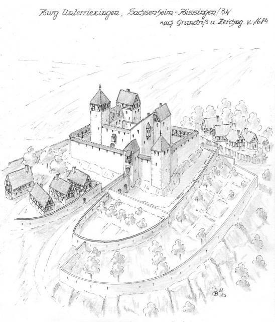 Burg Unterriexingen Burgen Und Schlosser Fantasieschloss Schlosszeichnung