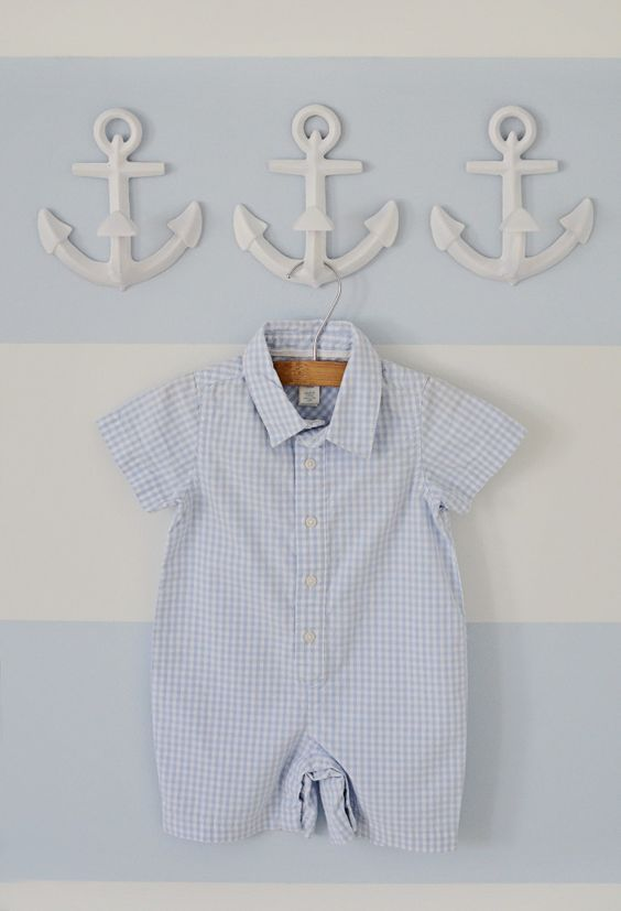 Wall anchor hooks from @Pottery Barn Kids. Perfect touch to this nautical nursery! #projectnursery