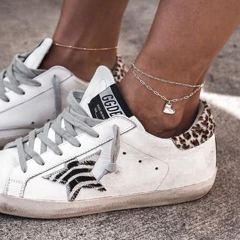 Figaro Chain Anklet Golden Goose Sneakers Outfit Golden Goose Shoes Golden Goose Sneakers