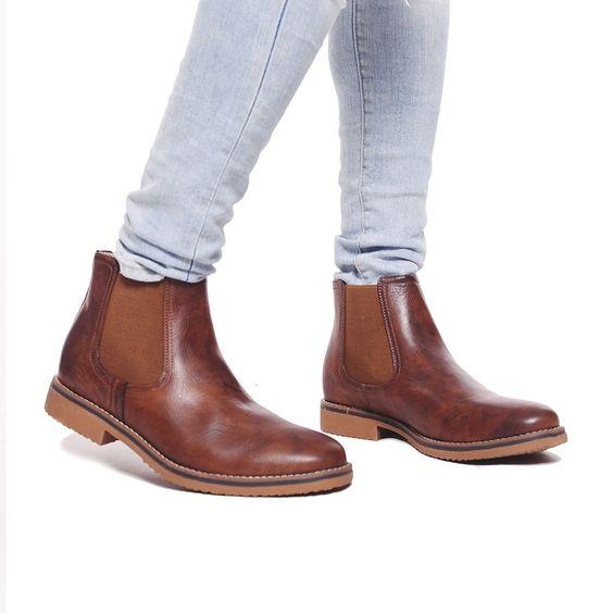Customs Ba Botas Hombre Cuero Ec Zapatos Botita Borcego Bota