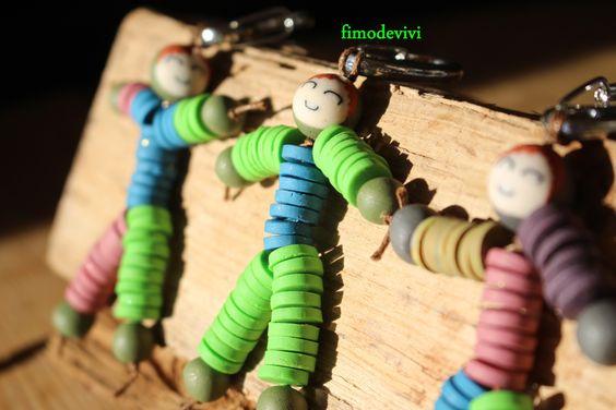 des pantins qui se dorent au soleil ... la clé du mystère !! : Porte clés par fimodevivi
