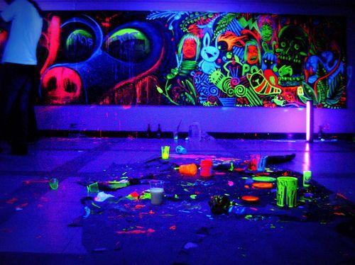 Neon Bedroom Lights marvelous black light room decor   zajawki z neta   pinterest