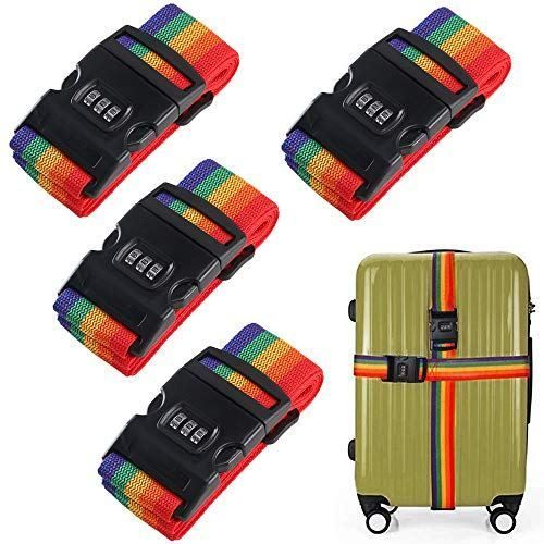 2PCS Heavy Duty Add-A-Bag Luggage Straps Jacket Gripper Carry-on Baggage Suitcase Straps Travel Accessories