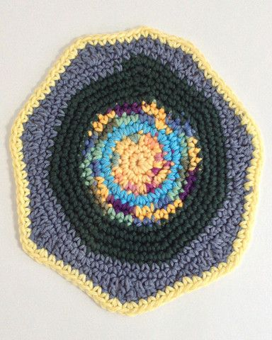 Picture of Dishcloths In The Round Crochet Pattern Set. Maggie's