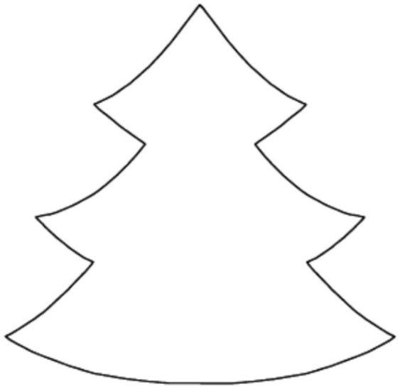 Arbol de navidad para colorear e imprimir dibujos de for Dibujo arbol navidad