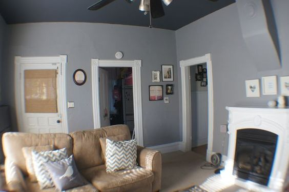 Grey Walls Dark Blue And Painted Ceilings On Pinterest
