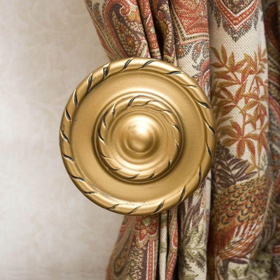Curtains Ideas brass curtain holdbacks : curtain holdbacks | Gould New York A5823 Braided Holdback Drapery ...