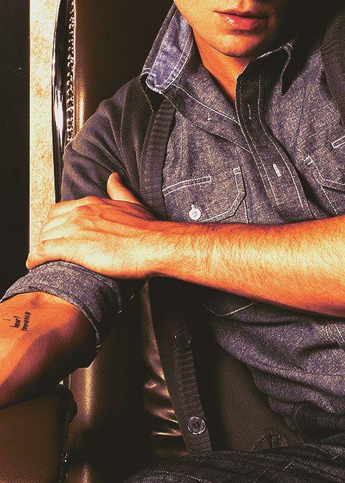 Ed Westwick 'I heart romance' tattoo
