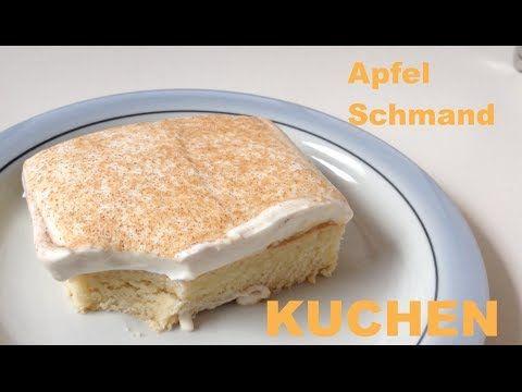 Einfacher & schneller Apfelkuchen mit Pudding - als Blechkuchen oder für die Springform - YouTube