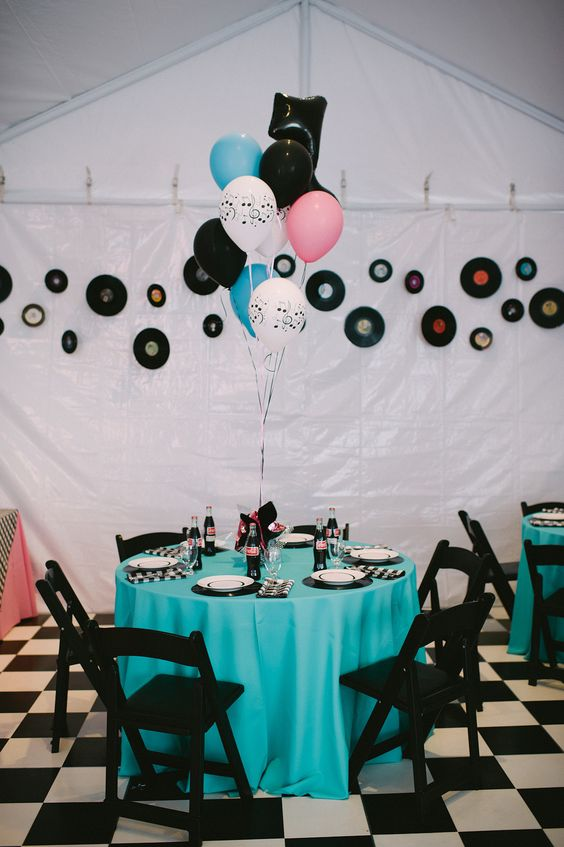 Wedding / Event Tablescape: 1950's Theme party