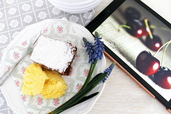 Cherry Casserole with Römertopf! Sommerliche Kirschauflauf mit Römertopf! #cherry #summer #recipe #foodblog #yummy #dessert #baking #römertopf #delicious