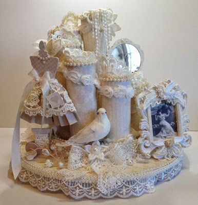 Toilets shabby and wedding on pinterest for Commode style shabby chic