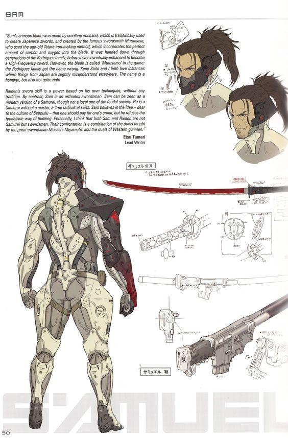 Character Sheet of Sam from Metal Gear Rising: Revengence