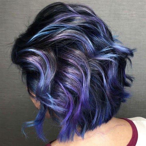 34 Purple And Blue Short Hair Popular Short Blue Hair Ideas In 2019 Short Blue Hair Short Hair Balayage Short Ombre Hair