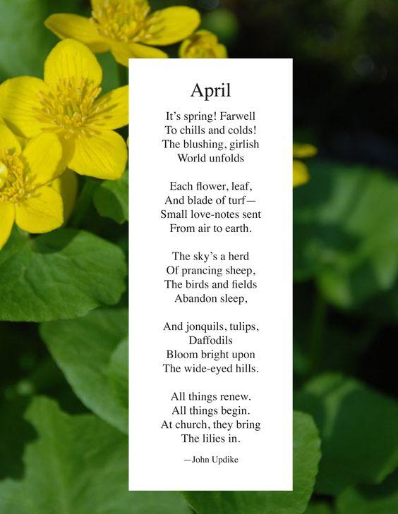 John Updike | April