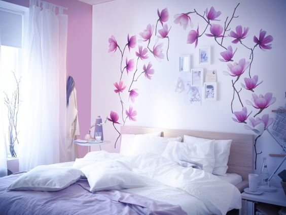 2014 Pantone Color of the Year - Radiant Orchid - Bring this fashionable shade into your home with wall decor, like SLÄTTHULT decals.