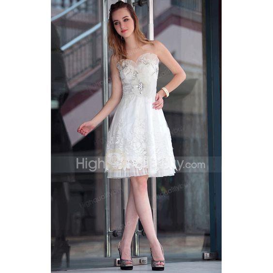 Blanco corto #vestido de dama de honor