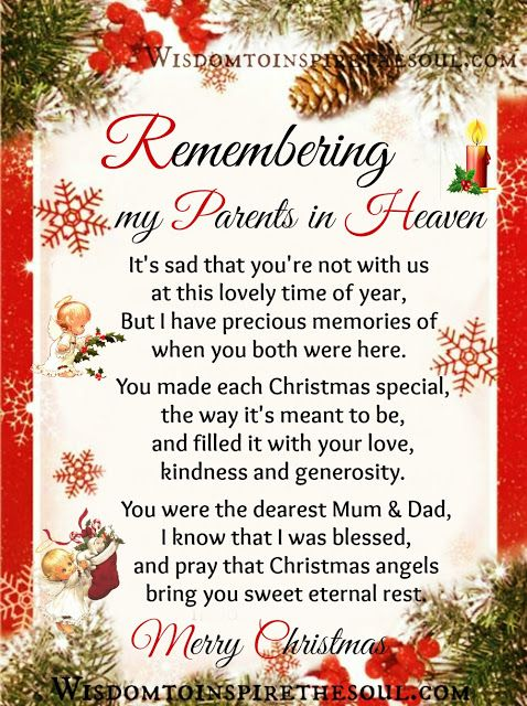 Pin by Patricia Hamm on Christmas | Mom in heaven, Christmas ...