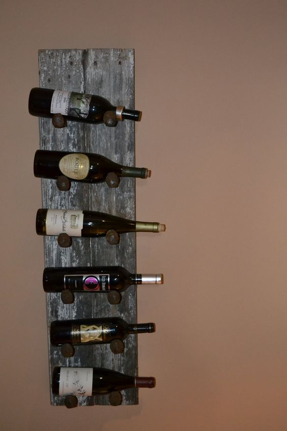 Probably Easy To Make Barn Wood Wine Rack Can With Old