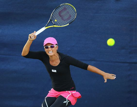 Arina Rodionova's cuuuute tennis outfit. She plays for the Washington Kastles
