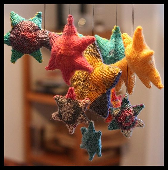 stars from ravelry: auch für den Kinderwagen eine Kette häkeln