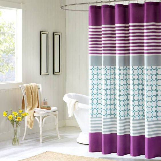 product image for Intelligent Design Halo Shower Curtain in Purple