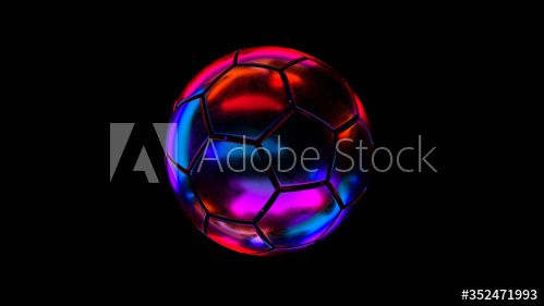 Sci Fi Soccer Ball In Neon Colors 3d Rendering Ad Soccer Fi Sci Ball Rendering In 2020 Interior Design Tips Neon Colors Design