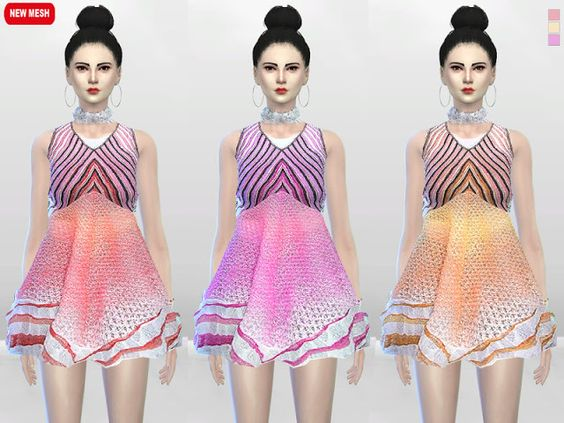 Sims 4 CC's - The Best: Sugar Creme Full Dress by McLayneSims