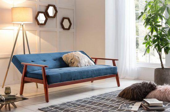 Salesfever Schlafsofa Mit Relaxfunktion Skandinavisches Design Neu Interpretiert Mit Bezug In Samtoptik Online