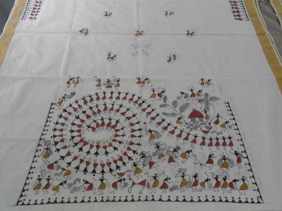 warli on kurthi | warli sarees | Pinterest