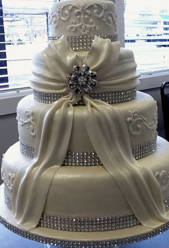 Wedding Cake with Bow, Beautiful! SimplySouthernSpecialties