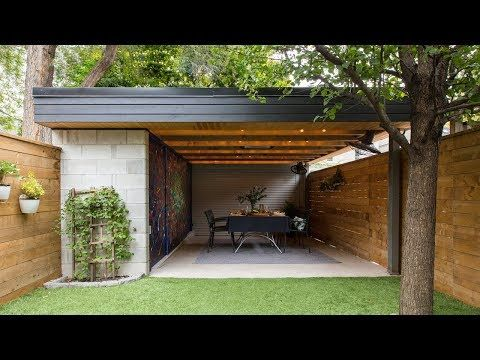 24 Outdoor Living This Carport Doubles As A Cozy Dining Area Youtube With Images Carport Outdoor Living Outdoor Dining Area