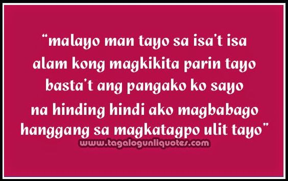tagalog long distance relationship quotes | long distance · #long ...