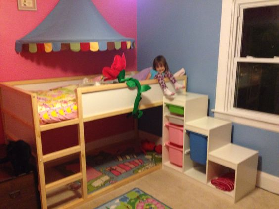 Ikea Kura With Trofast Storage Kids Rooms Pinterest