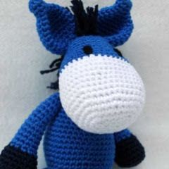 Patrones Amigurumi: Asno a crochet