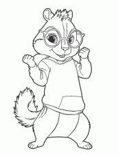 alvin e os esquilos para pintar