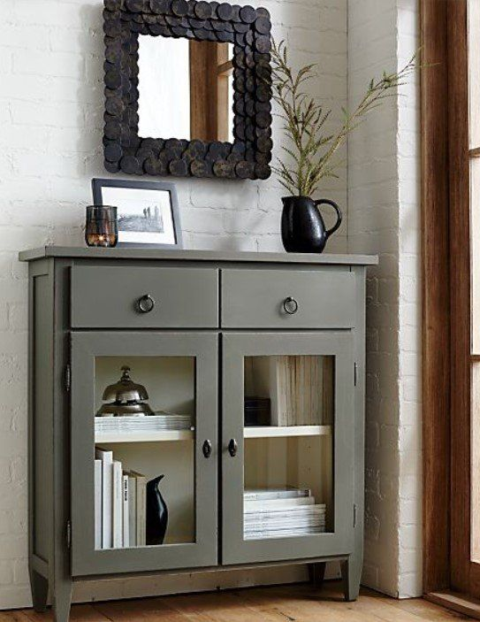 Our Handcrafted Stretto Entryway Cabinet Has A Narrow Slim Profile That Provides The Ideal Amount Of Com Entryway Cabinet Foyer Decorating Mirror Wall Bedroom Entryway chests and cabinets