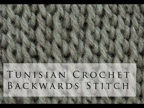 Tunisian Crochet Backwards Simple Stitch