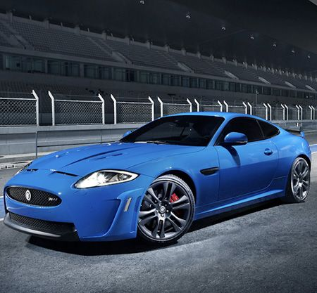 Jaguar XKR-S in French Racing Blue