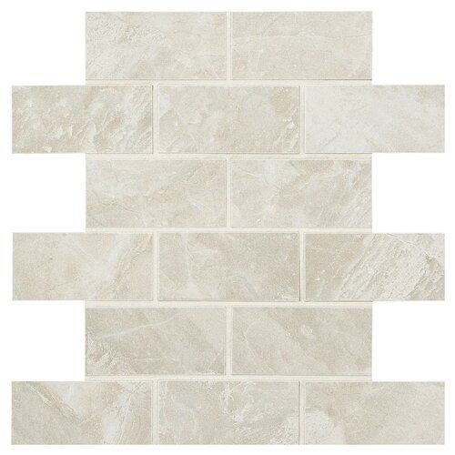 American Olean Mirasol 12 Pack Silver Marble 12 In X 12 In Glazed Porcelain Brick Mosaic Tile Lowes Com In 2020 Porcelain Flooring Porcelain Floor Tiles Mosaic Flooring
