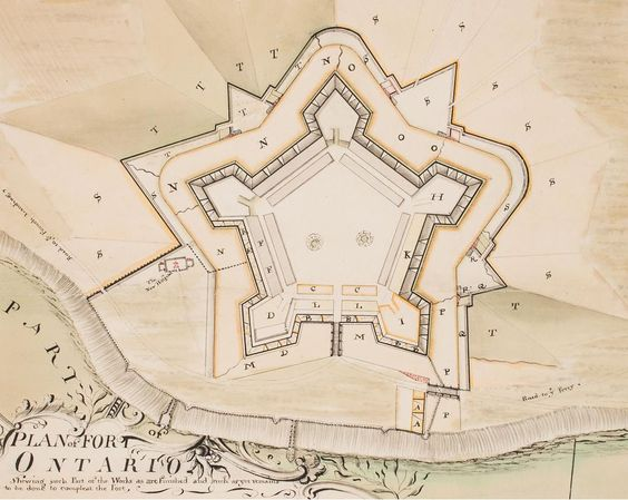 """Thomas Sowers, """"Plan of Fort Ontario"""" (1764): http://bit.ly/1xD3XLo"""