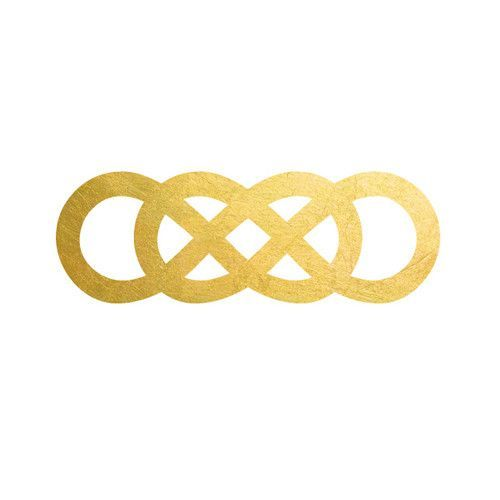 2 PACK Double Infinity Metallic Temporary Tattoo