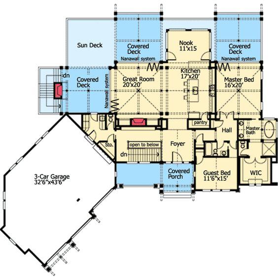 House Plans Home Design And Walkout Basement On Pinterest