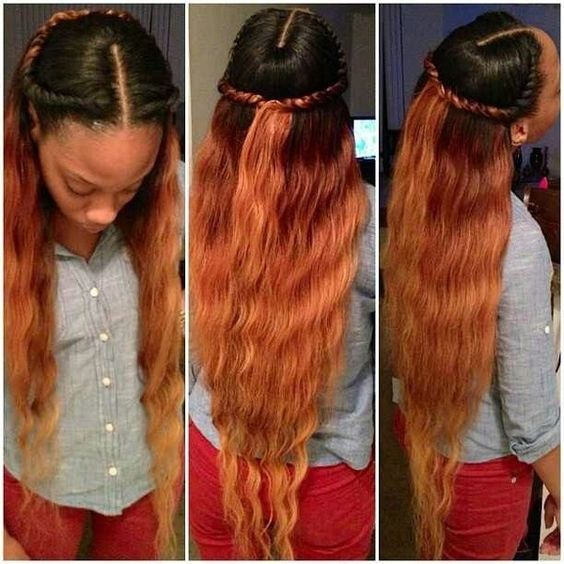 Marvelous Sew In Hairstyles Sew Ins And Black Hair Care On Pinterest Hairstyles For Women Draintrainus