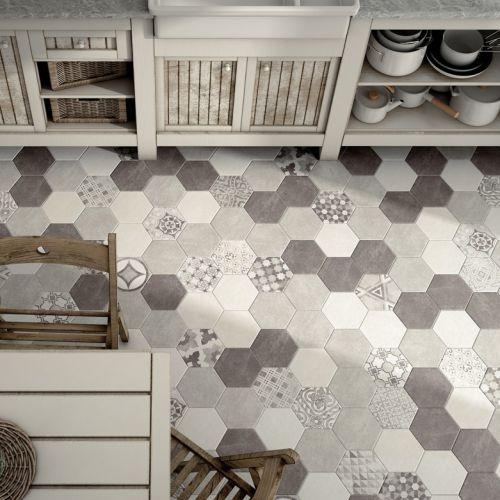 Les Meilleures Images Du Tableau Parquet Carrelage Sur - Carrelage hexagonal cuisine pour idees de deco de cuisine